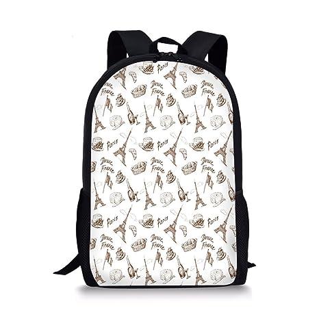 3a7f96620402 Amazon.com  iPrint School Bags Paris