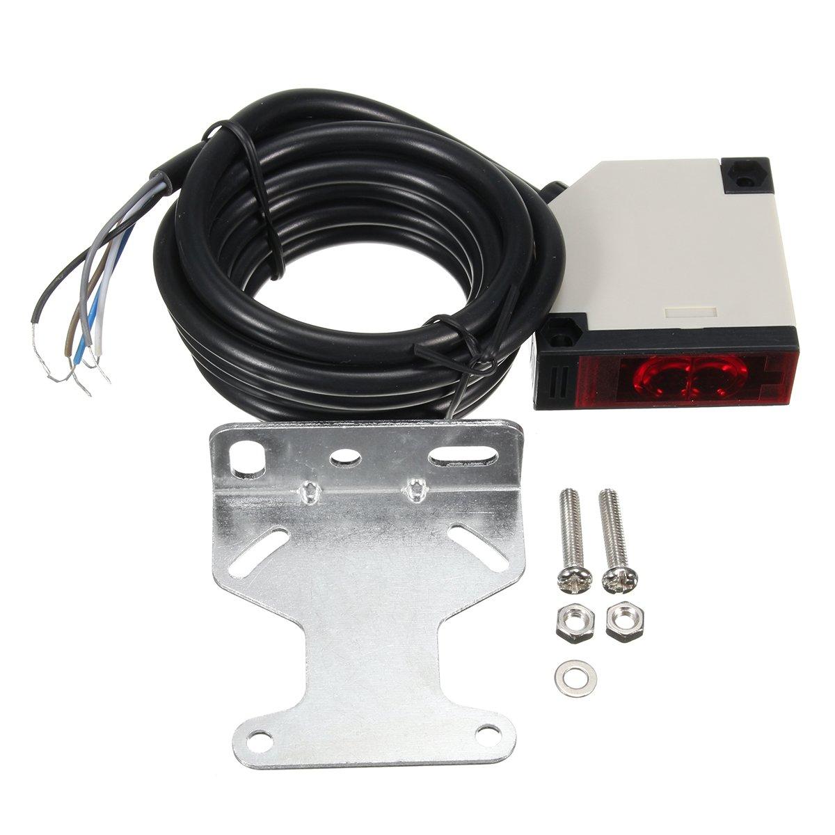 GOZAR Interruptor Fotoeléctrico De La Barrera Ligera Reflex Cuadrada Del Sensor De E3Jk-Ds30M1 3A 220V: Amazon.es: Hogar