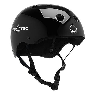 PRO-TEC Classic EPS Foam Liner Gloss Black Large Skateboard Helmet - CE/CPSC Certified : Skate And Skateboarding Helmets : Sports & Outdoors [5Bkhe0505781]