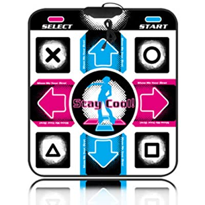 WEWE Children Dance Mat,Musical Mat Dance Revolution Foldable Dance Pad USB Connection Dancing Blanket Hd Tv Computer Dual--b 33x33cm(13x13inch): Clothing