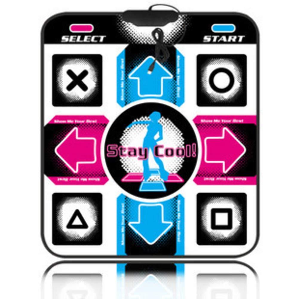 WEWE Children Dance Mat,Musical Mat Dance Revolution Foldable Dance Pad USB Connection Dancing Blanket Hd Tv Computer Dual-b 33x33cm(13x13inch)