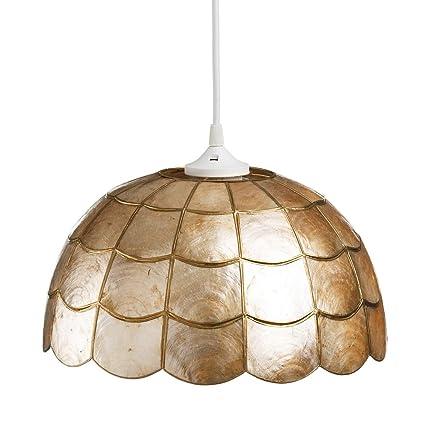 Lámpara de Techo de nácar Dorada de Comedor Vintage para ...