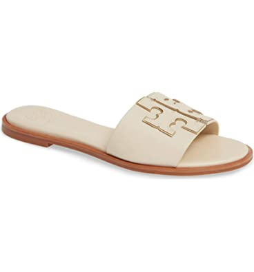 41229d84e Tory Burch Women s New Cream INES Leather Slides (6 M ...