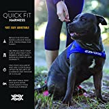 EzyDog Premium Quick Fit Adjustable No-Pull Dog Harness Vest with Reflective Stitching - Perfect for Training, Walking, and Control - Padded for Comfort (Large, Black)