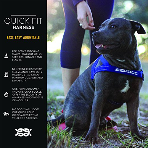 Image of EzyDog Premium Quick Fit Adjustable No-Pull Dog Harness Vest with Reflective Stitching - Perfect for Training, Walking, and Control - Padded for Comfort (X-Small, Candy)