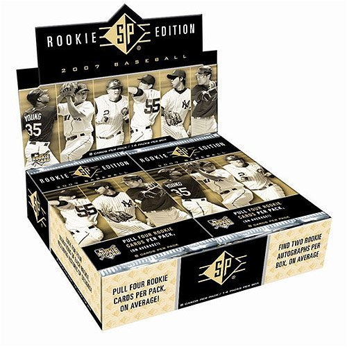 2007 Upper Deck SP Baseball Rookie Edition Hobby Box - 2 Autographs/Box, 4 Rookie Cards/Pack!! -
