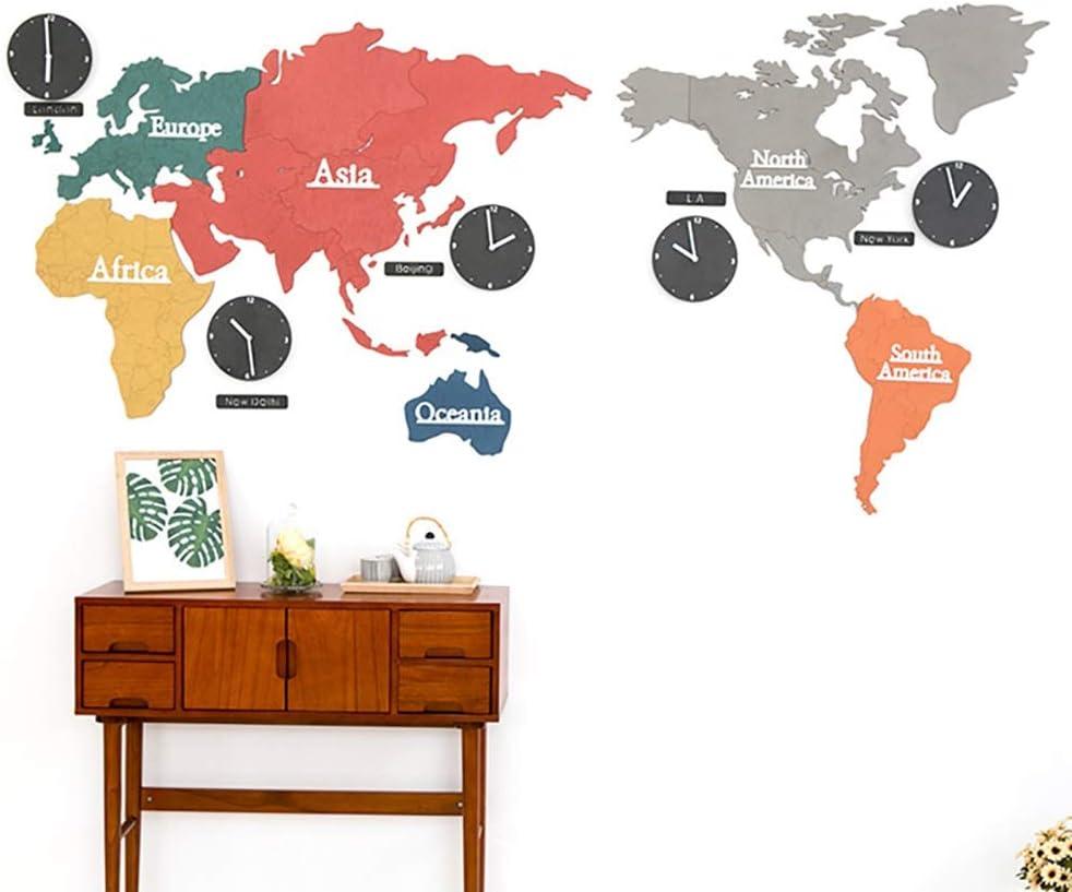 ZSYUN 2,2 Metros de Reloj de Pared silencioso Moda Mapa Comparativo de Países Creativo Reloj de Pared del Reloj de Pared de la Sala Moderna nórdica Reloj de Pared