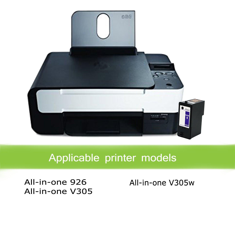 Amazon.com: Awesometoner 2-Pack (BLACK Only) DELL Remanufactured DELL  (Series 9) MK992 Black Ink Cartridges for DELL 926, V305, V305W Printers:  Office ...