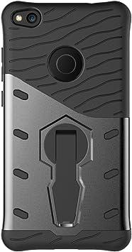 Funda Huawei P8 Lite (2017),Shanphone Armor Doble Capa Funda de Protección Hibrida Completa para de Huawei P8 Lite (2017),Negro: Amazon.es: Electrónica
