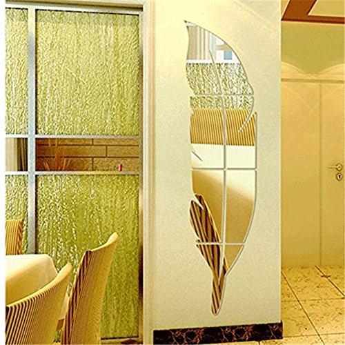 Mirror Wall Decor, Trenton Wall Sticker Removable Wall Decal Sticker DIY Art Decor Mural Home (Trenton Mirror)