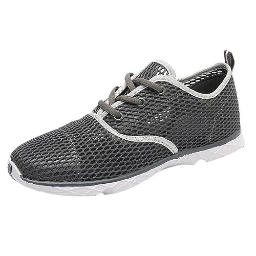 f6855fd07b1b73 Zarupeng Herren Mesh Sport-Schuhe Outdoor Atmungsaktives Quick-Drying  Flussschuhe Licht Sneaker Wanderschuhe Aushöhlen