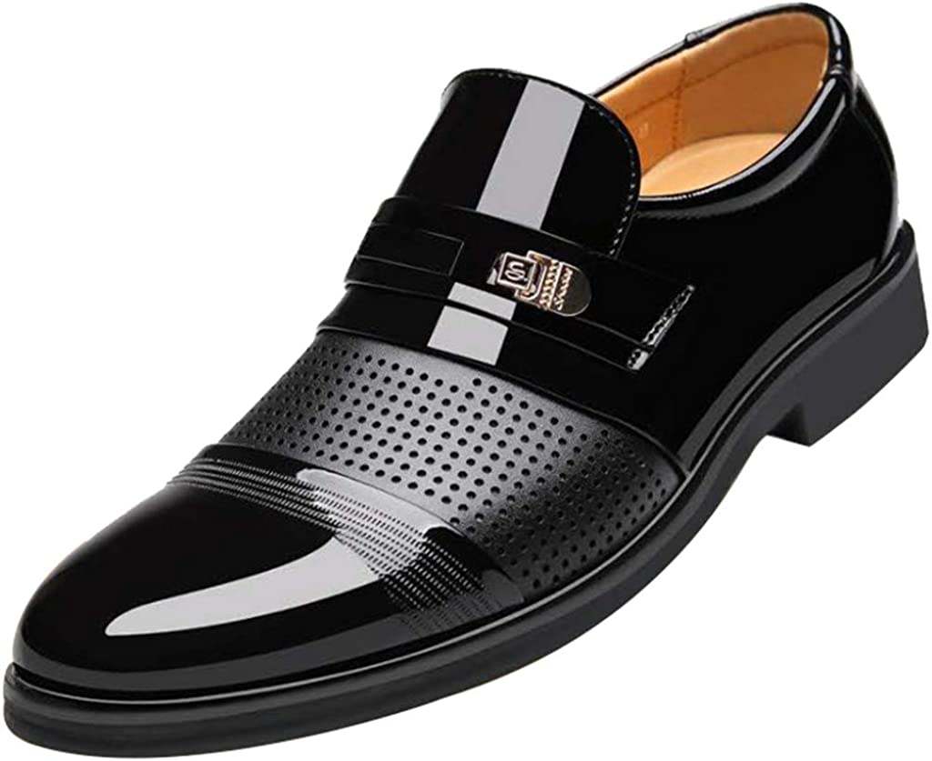 Mens Oxford Shoes Patent Leather Business Wedding Dress Shoe British Comfortable Limsea