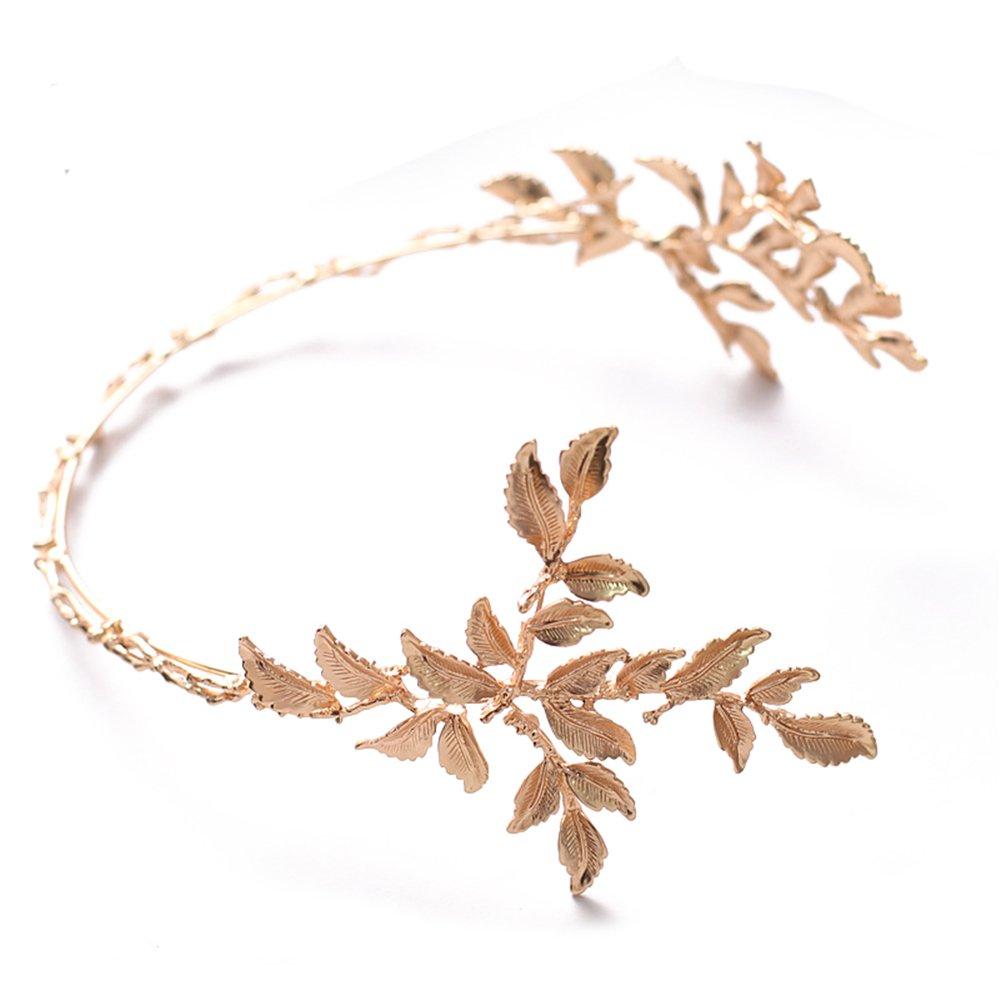 Gold Leaf Wedding Hair Accessories Bride Headband Crown and Tiaras Bridal Hair Accessories Jewelry Sunshinesmile