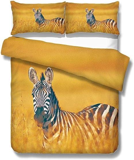 Lenzuola Matrimoniali Bianche E Nere.Realin Copripiumino Zebra Animale Selvatico Africano Set