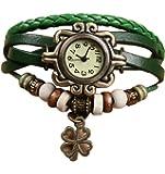 Demarkt Retro Vintage Klee Design Damen Armbanduhr Armreif Uhr Anhänger Spangenuhr Quarzuhren