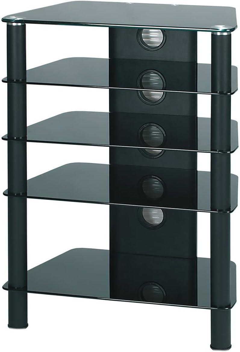 Demagio DM05 - Estantería para equipo de sonido (cristal, 4 estantes), color negro: Amazon.es: Electrónica