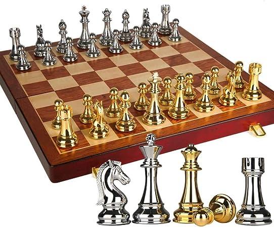 ZTKBG Juego de ajedrez de la Competencia Internacional de Enseñanza de Gran tamaño Pieza de ajedrez Caja Madera Maciza de Ajedrez de jabalí (Color : A): Amazon.es: Hogar