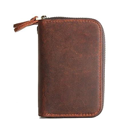 Billetera de hombre Monedero corto de cuero del vintage de ...