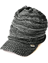 Casualbox - Peak Cap Beanie Knit Hat All Season Slouch Baggy Slouchy Peaked  Summer Winter d9a7d53d89a5