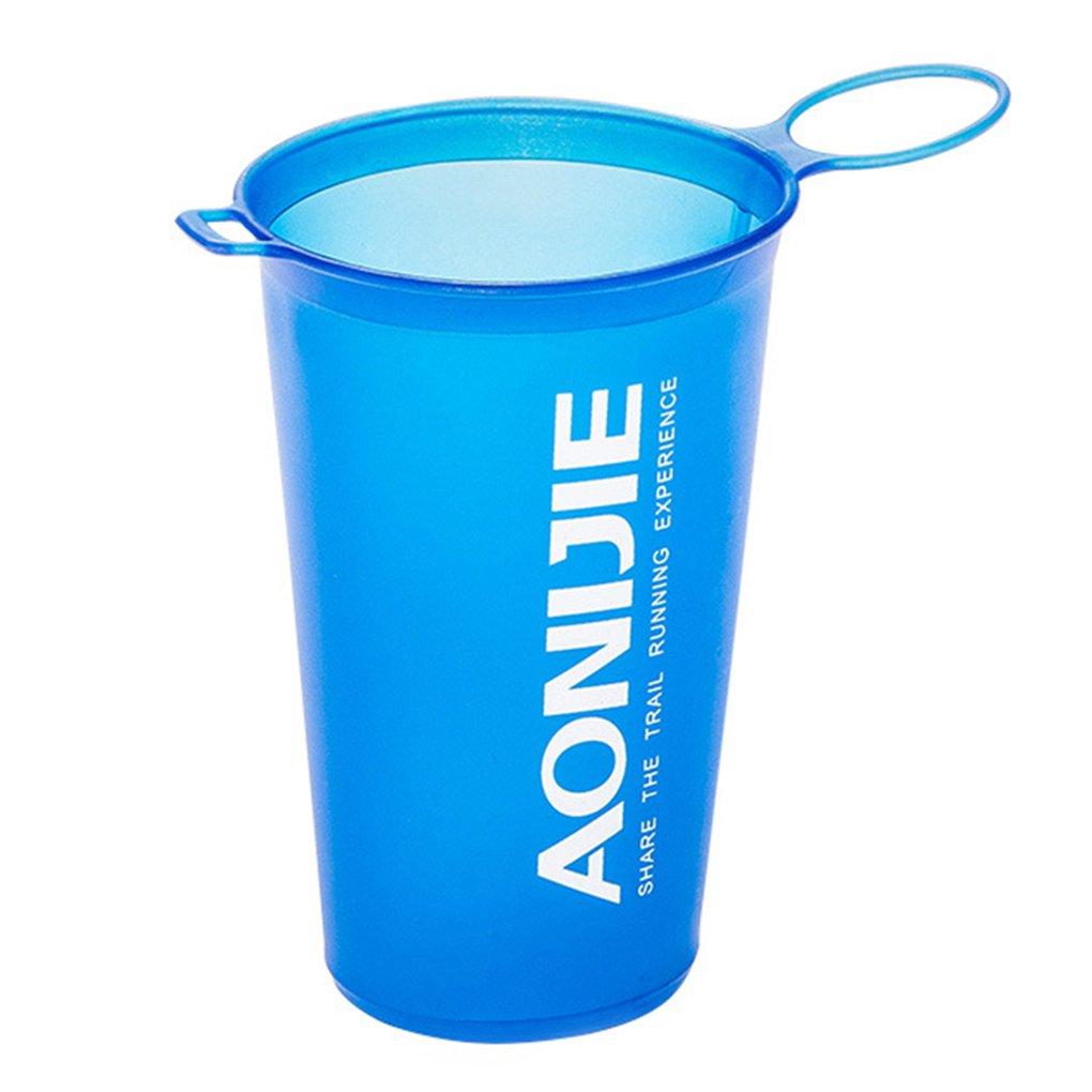 Pliable de Plein air Douce Flask Sac Sport Aquatique Camping Randonn/ée Courir Bouteille Hydratation Eau Coupe Bouche Bouilloire pour AONIJIE