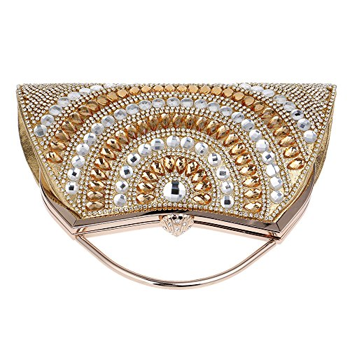 Scintillant De Mariage Sac Bal D'embrayage De Des Sac Main à Femmes Main De De Chaîne Diamant Avec Gold Soirée Bandoulière Sac Sac Sacs à EfnxBdHqf