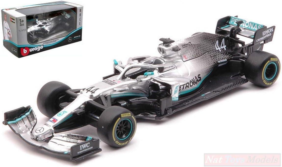 Burago Mercedes F1 W10 Lewis Hamilton Champion 2019 N 44 1 43 Model Die Cast Amazon Co Uk Toys Games