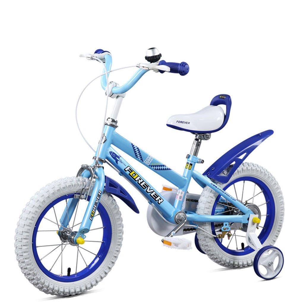 Fenfen子供の自転車16インチ高炭素スチール合金自転車4 – 8 Years Old子自転車、ブラックイエロー/ホワイトブルー B07CVVL83Y  ホワイトブルー