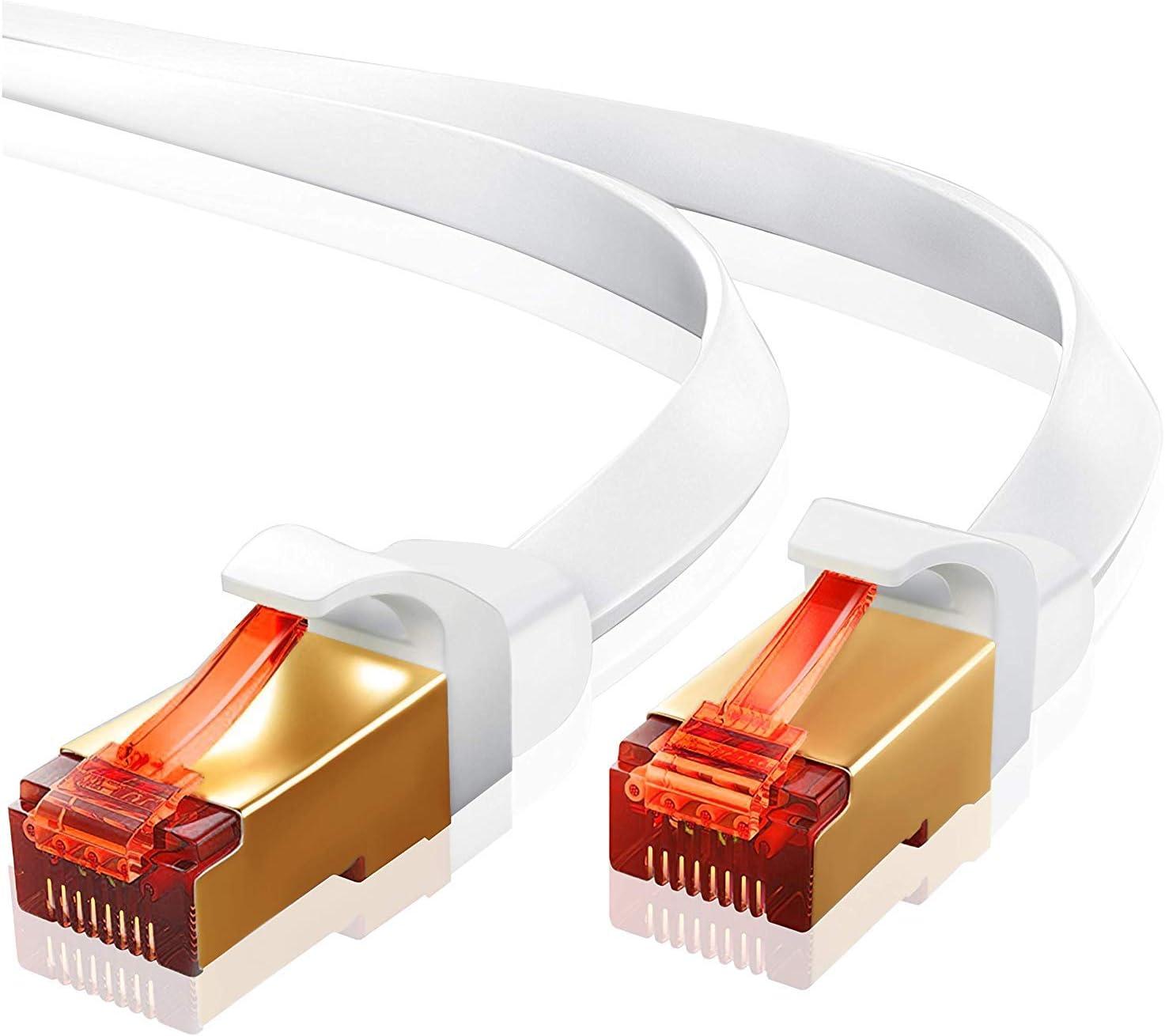 1m Cat 7 Ethernet Gigabit Lan Netzwerkkabel10gbps Computer Zubehör