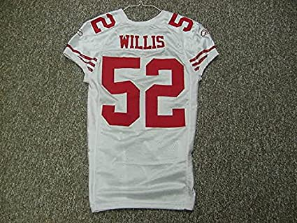 the best attitude f1004 05f48 Patrick Willis San Francisco 49ers 2009 Game Worn Jersey at ...