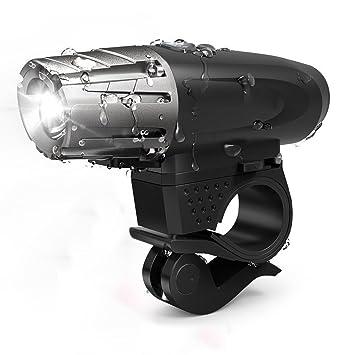 Leezo - Luz LED para Bicicleta (Recargable, USB, luz Delantera de ...