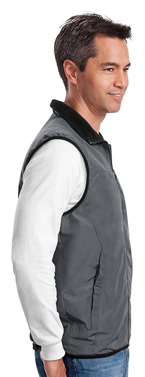 Port Authority Mens Durable Heavyweight Challenger Vest/_Tru Blck//Tru Blck