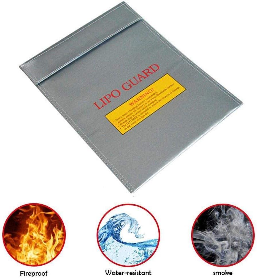 resistente al fuego, bater/ía de litio, bolsillo de seguridad, bater/ía de avi/ón, funda ign/ífuga, 18 23 cm Bolsa para documentos Seasons Shop
