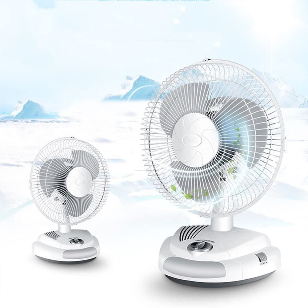 White DNXL Mini Fan Creative Mute Multi-Function USB Charging 12 Inch Desktop Fan for Student Dormitory//Office//Bedroom