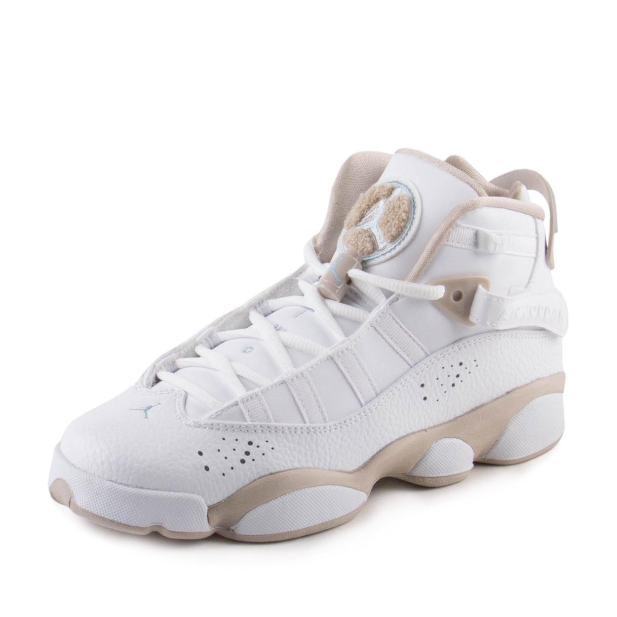 competitive price 15553 6ceed Jordan Nike Boys 6 Rings GG White/Sand Leather Size 4Y
