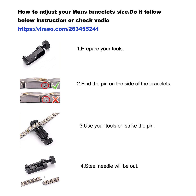 MagEnergy Women Bracelet Rose Gold Bracelets Arthritis Bracelets for Women with Free Removal Tool by MagEnergy (Image #6)