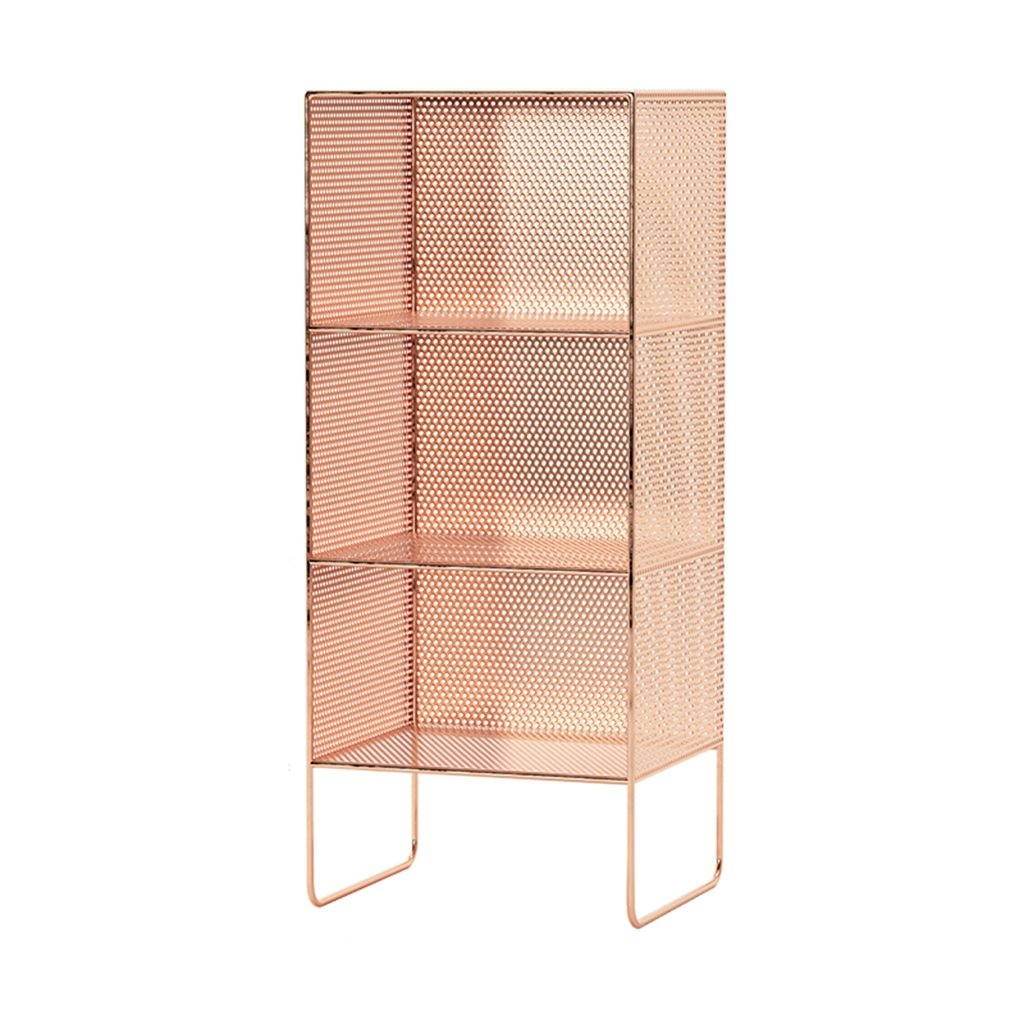 Pink 353084cm Rack Wrought Iron Multi-Layer Floor Magazine Shelf Bedroom Bedside Living Room Quilted Multi-Layer Storage Bookshelf (color   Pink, Size   35  30  64cm)