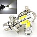 交換用 バルブ H4 LEDバルブ ヘッドライト LEDフォグランプ キセノンホワイト 高辉度 定電流 6000K 7.5W 2個入り