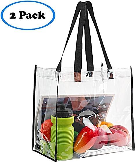 Amazon.com: Paquete de 2 bolsas transparentes aprobadas para ...