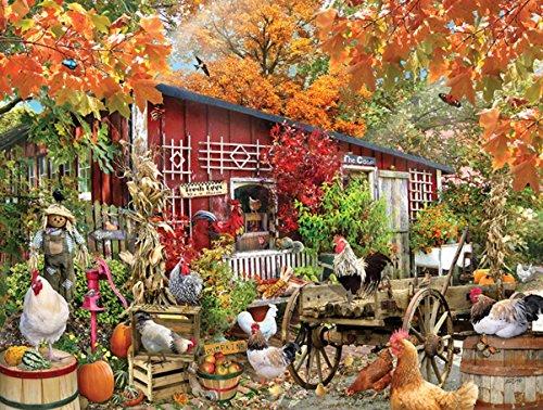 Barnyard Chickens 500 pc Jigsaw Puzzle