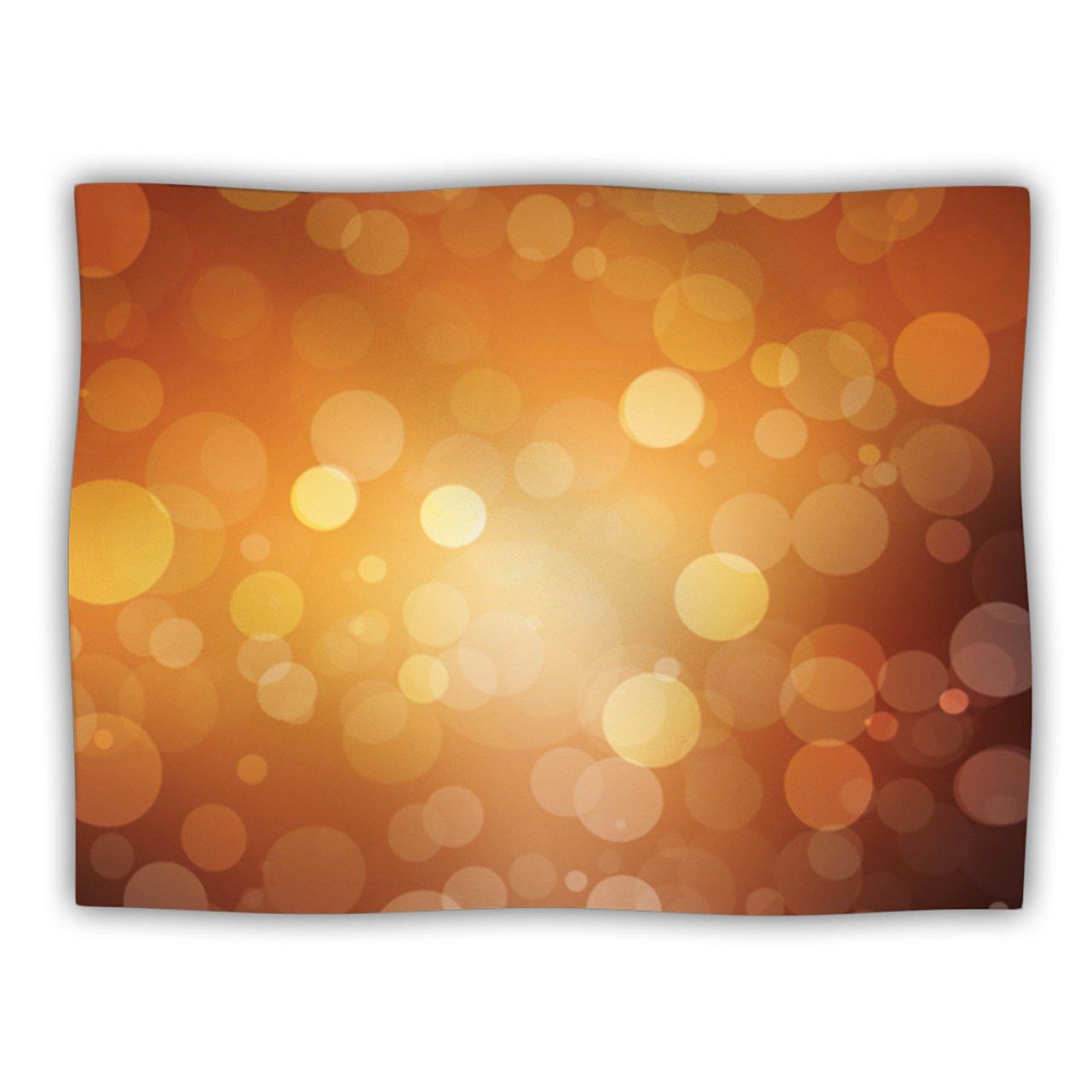 Kess InHouse Kess Original Sunrise  orange Bokeh Pet Dog Blanket, 60 by 50-Inch