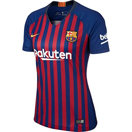 88e3e63be69 Amazon.com : Nike FC Barcelona 2018-2019 Ladies Home Soccer Jersey ...
