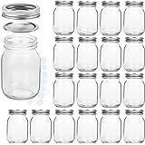 KAMOTA Mason Jars 16 oz With Regular Lids and Bands, Ideal for Jam, Honey, Wedding Favors, Shower Favors, Baby Foods, DIY Mag