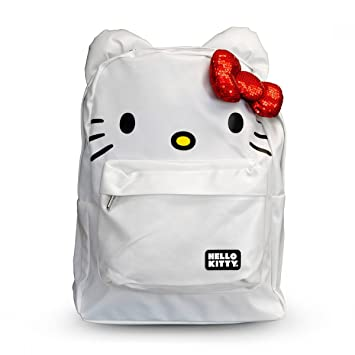 Image Unavailable. Image not available for. Color  Hello Kitty Backpack Bag  w  Bow   Ears (Face - White   Red) a55666c6130ba