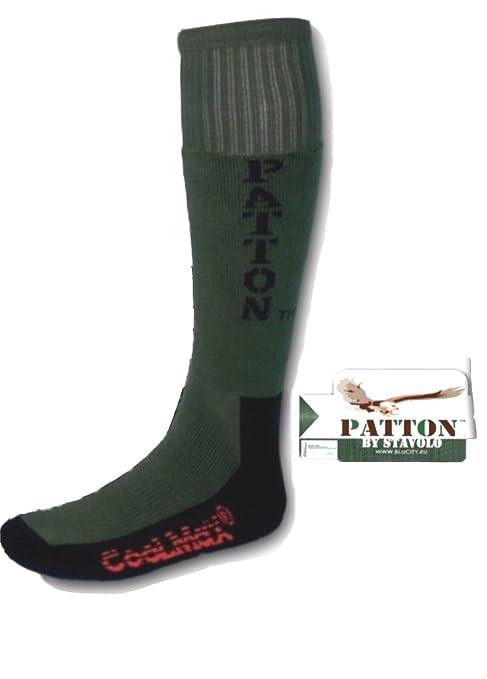 Calcetines térmicos hombre TECNICHE Patton verdes de caza Esquí Senderismo Invierno, VERDE
