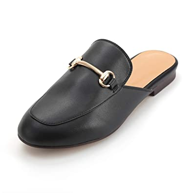 4bf81c10db2 New LaRosa Womens Leather Oxford Backless Slipper Slip-ONS Loafer Shoes