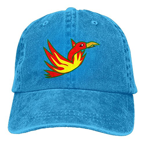 Uanqunan Cartoon Phoenix Unisex Cotton Denim Baseball Cap Adjustable Strap Low Profile Plain Hats - In Airport Az Phoenix