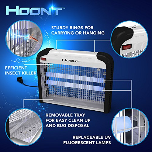 free shipping hoont powerful electronic indoor bug zapper. Black Bedroom Furniture Sets. Home Design Ideas