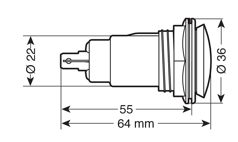 12//24V Montaggio ad Incasso LAMPA 39061 Presa Corrente Standard