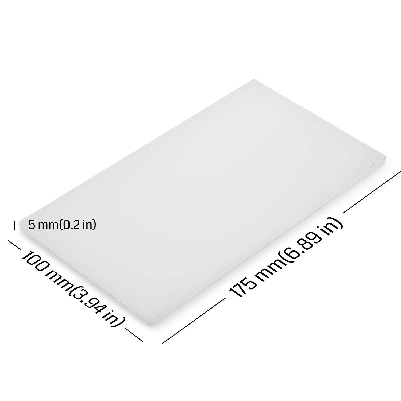 3//8 Thickness 36 Length Opaque White 24 Width High Density Polyethylene HDPE UL 94HB Sheet Standard Tolerance