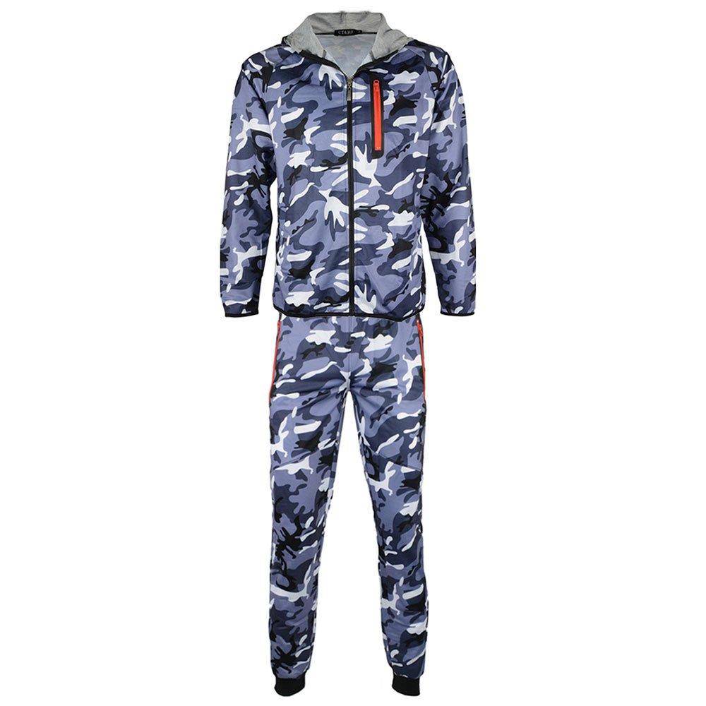 CT&HF Men's Army Tactical Militarty Uniform Clothing Set (Large, Light Grey)